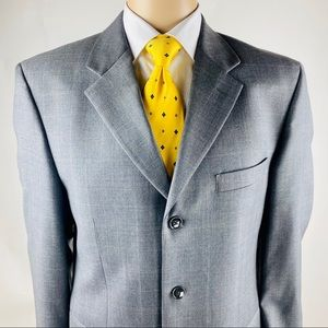 Jones New York 40R Sport Coat Blazer Gray Plaid